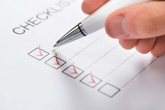 Rasenmäher Test Checkliste